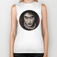 rocky horror picture show Biker Tanks featuring Untitled I by Rouble Rust