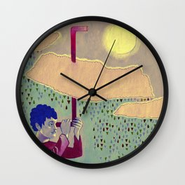 Up Periscope Wall Clock