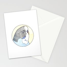 Parakeet Portrait  Stationery Cards