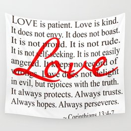 Love is Patient, Love is Kind. Wall Tapestry