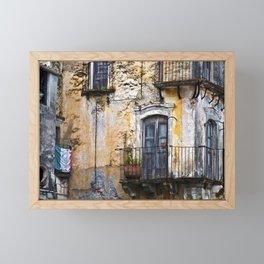 Urban Sicilian Facade Framed Mini Art Print