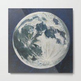 Moon Portrait 3 Metal Print