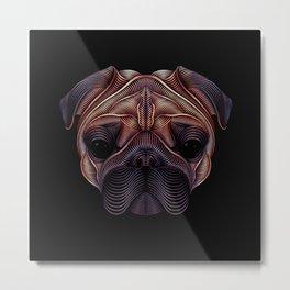 The pug Metal Print
