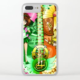 Sailor Mew Guitar #39 - Sailor Jupiter & Mew Pudding Clear iPhone Case