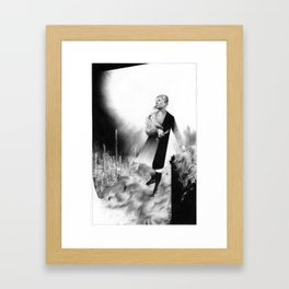 """""""Once Free She Focused on the Important Things"""" (Girls with flowers in the forest) Framed Art Print"""