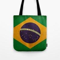 brasil Tote Bags featuring Brasil by NicoWriter