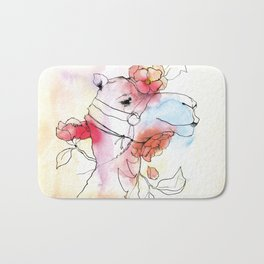 A camel in camelia Bath Mat