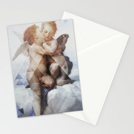 21st century first kiss Stationery Cards