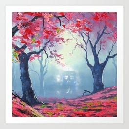 TARDIS CLOUD art painting Art Print
