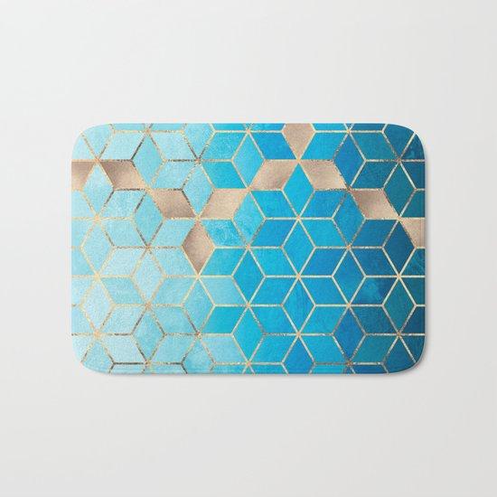 Sea And Sky Cubes (Custom Request) Bath Mat