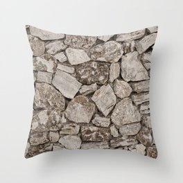 Old Rustic Stone Wall Throw Pillow