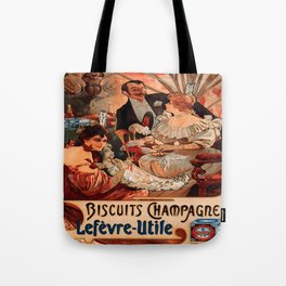 Vintage poster - Biscuits Champagne Tote Bag