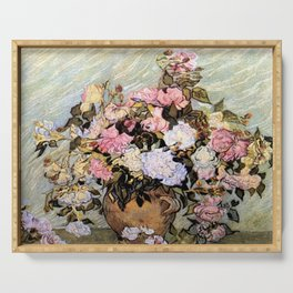 Vincent Van Gogh Vase With Roses Serving Tray