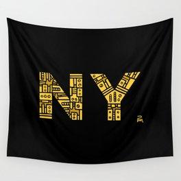 NIGHT NY - PM Wall Tapestry