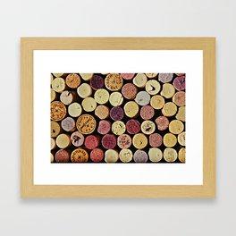 Wine Tops Framed Art Print