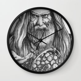 Father Time by Kate Morgan Wall Clock