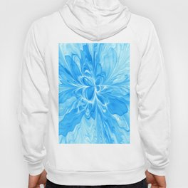 Blue Jeans Colors And White, Abstract Fractal Art Hoody