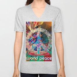 World Peace Unisex V-Neck