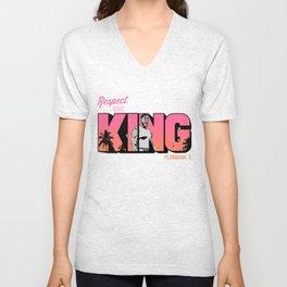 "The Victrs ""Respect The King""  Unisex V-Neck"
