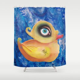 duck amused Shower Curtain