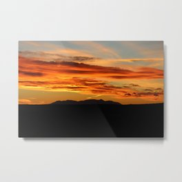 Sunset over the Henry Mountains Metal Print