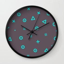Happy Particles - Grey Wall Clock