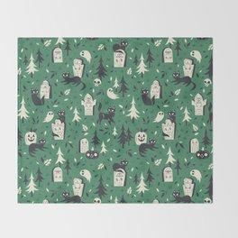 Cemetery Cuties (Green) Throw Blanket