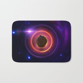 The Little Astronaut on a Tiny Fractal Planet in a Long Lost Nebula Bath Mat