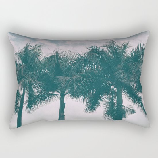 Palm Trees in tropical climate Rectangular Pillow