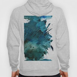 Scenic Route [2]: a pretty, minimal abstract piece in blue and green by Alyssa Hamilton Art Hoody