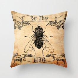 Bar Flies United  Throw Pillow