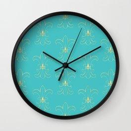 Gold Fleur de Lis Wall Clock