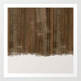 Dipped Wood - Australian Walnut Art Print