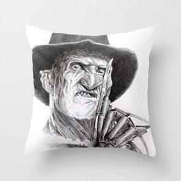 Freddy krueger nightmare on elm street Throw Pillow