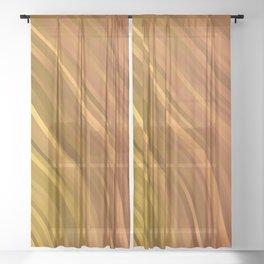 stripes wave pattern 1 eep Sheer Curtain