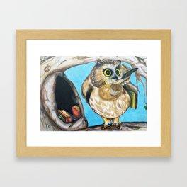 Wise Little Owl Framed Art Print