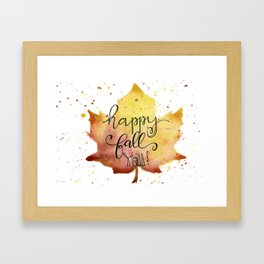 Happy Fall Y'All Framed Art Print