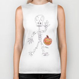 Skeletal Greetings Biker Tank