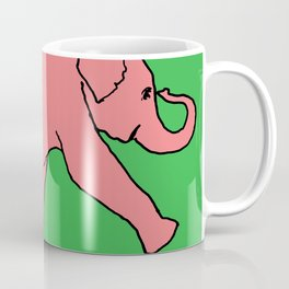 elephant drawing, elephant painting, pink elephant pictures, Coffee Mug
