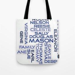 Mason Family - Blue Font Tote Bag