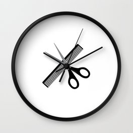 scissors & comb Wall Clock