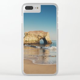 Natural Bridges State Beach ... Clear iPhone Case