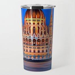 Modern Style Famous City Art Design Travel Mug