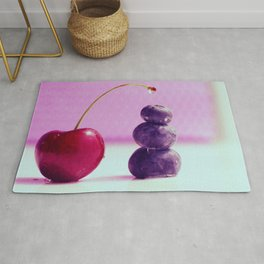 Food Design fresh Cherry and Bluebeeries Rug