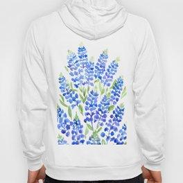 Watercolor Texas bluebonnets Hoody