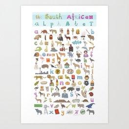The South African Alphabet Art Print