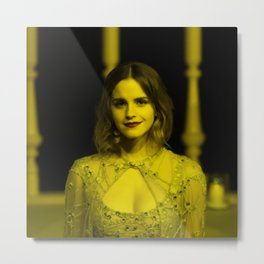 Emma Watson - Celebrity (Florescent Color Technique) Metal Print