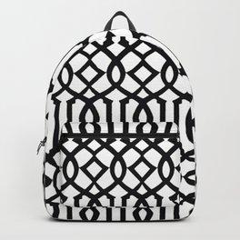 White & Black Imperial Trellis Backpack