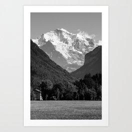 BW Post Card to Swiss Art Print