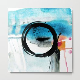 Enso Abstraction o. 113R by Kathy Morton Stanion Metal Print